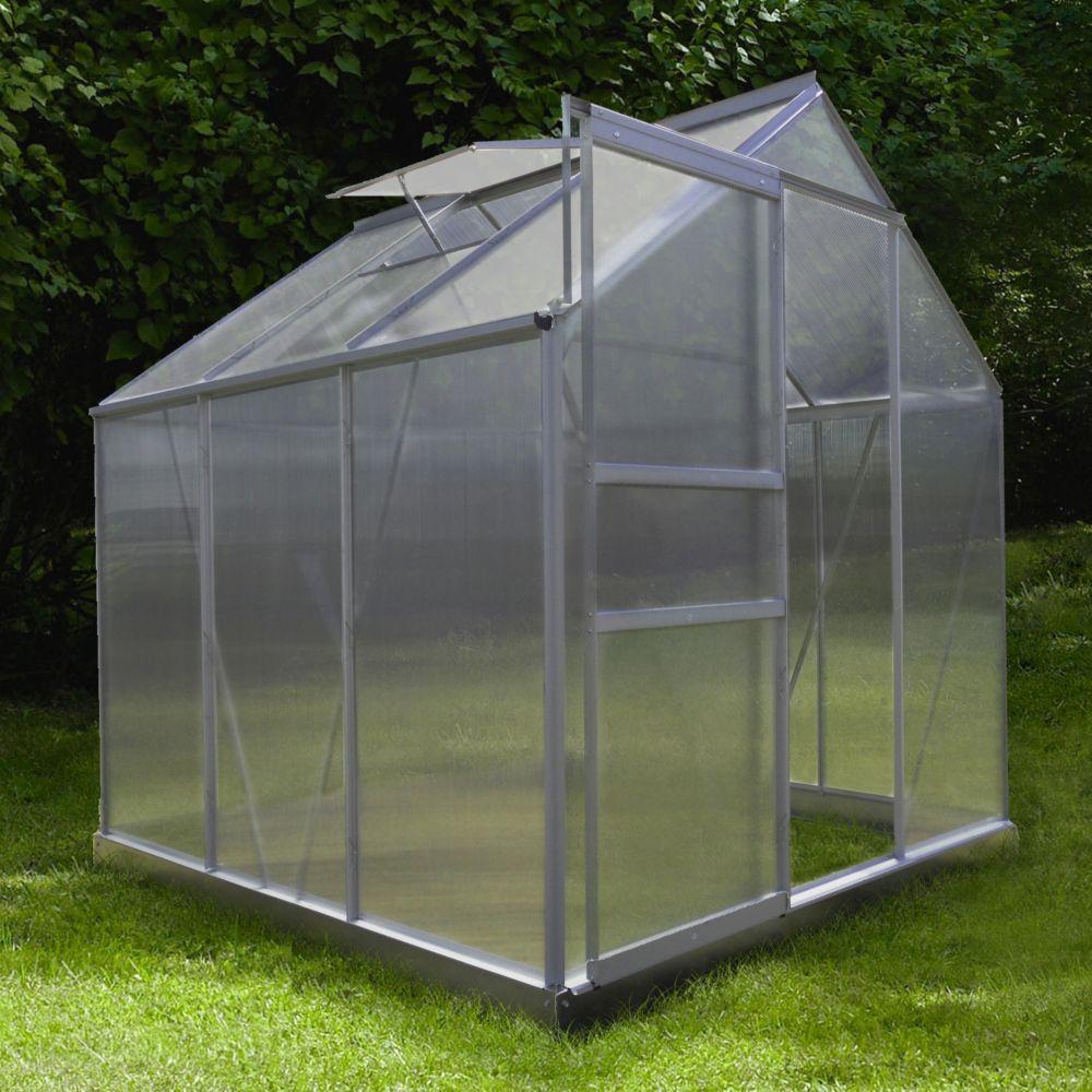Serre polycarbonate Diamant grise 3.6 m² - Châlet-Jardin