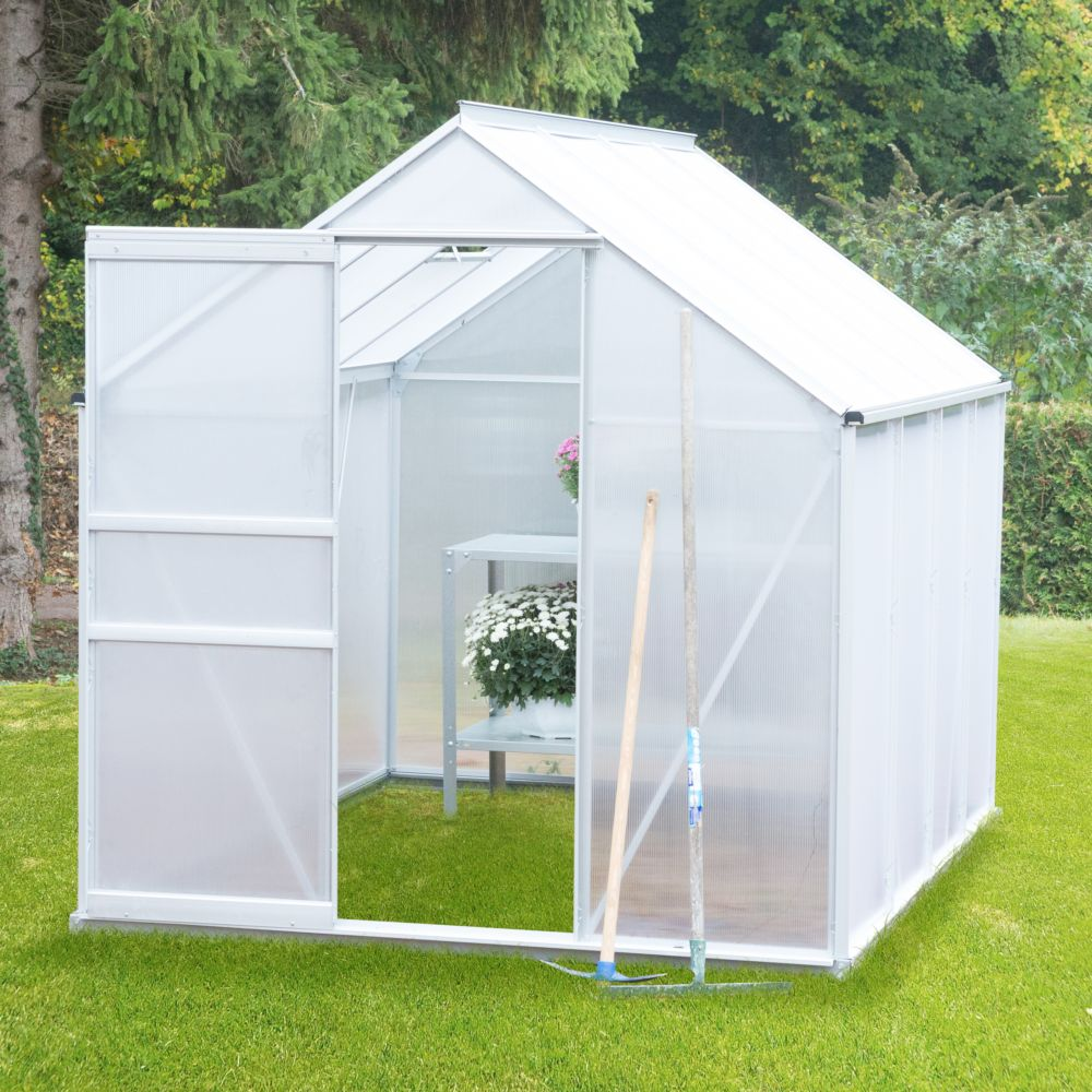 Serre polycarbonate Diamant grise 4.8 m² - Châlet-Jardin