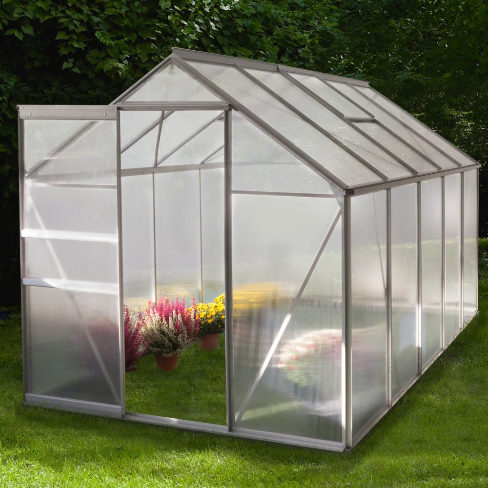 Serre polycarbonate Diamant grise 6 m² - Châlet-Jardin