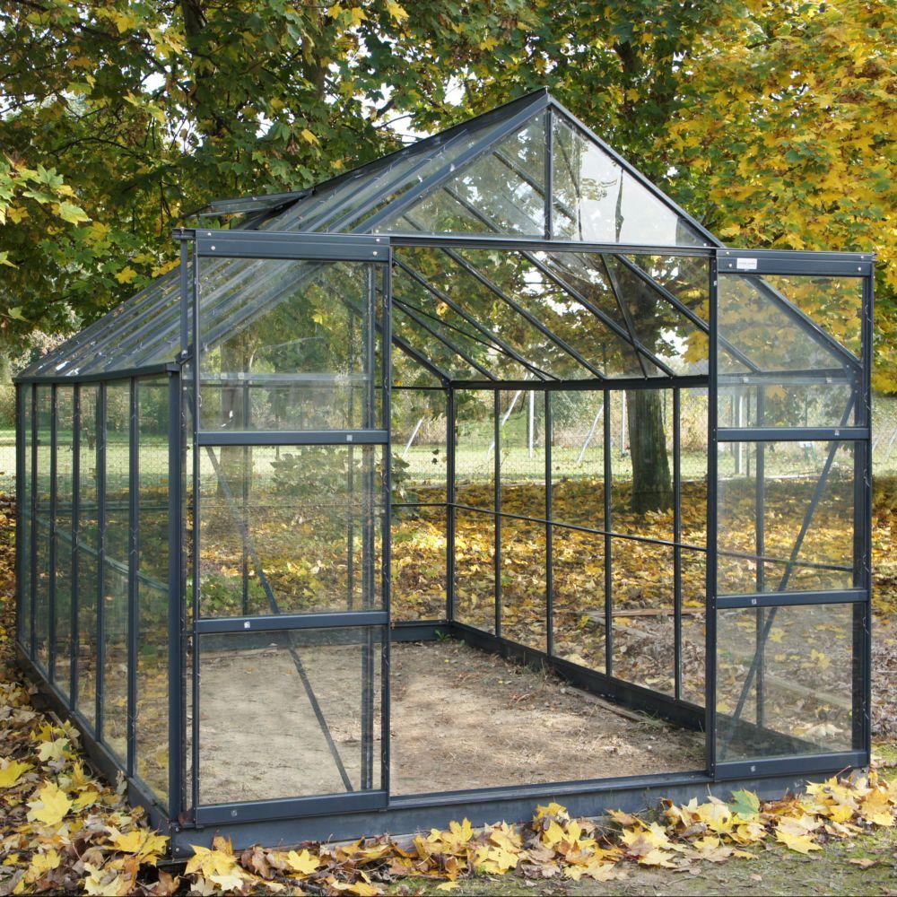 Serre en verre trempé Sekurit grise 8.88 m² - Châlet-Jardin