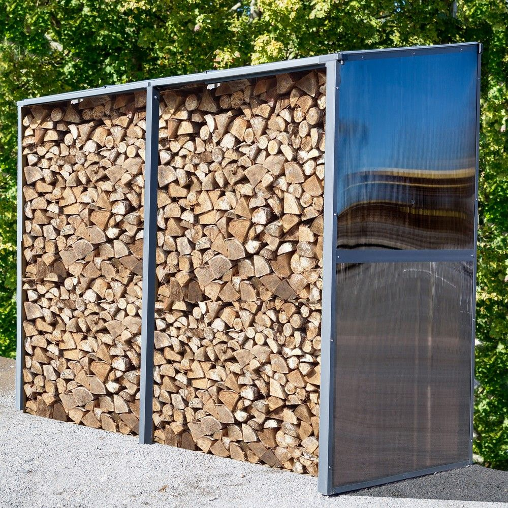 Abri adossé multifonction aluminium 2,81 m² anthracite