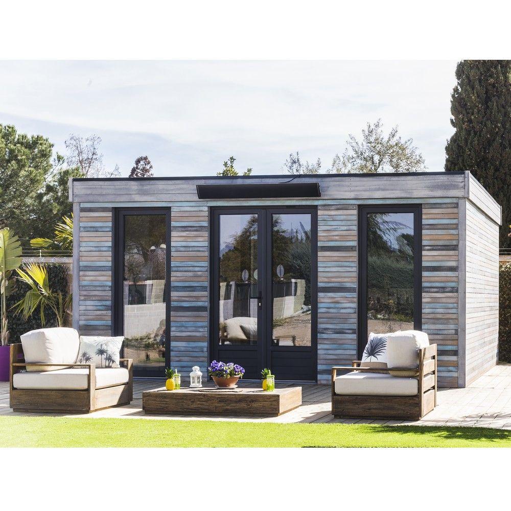 Grande Cabane De Jardin Pas Cher abri de jardin semi habitable toit plat décor home 24,70 m² ep. 90 mm