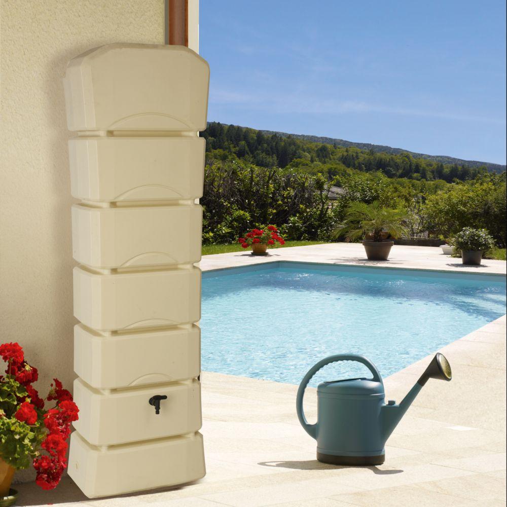 Récupérateur d'eau mural BELLIJARDIN beige Latitude 300 L