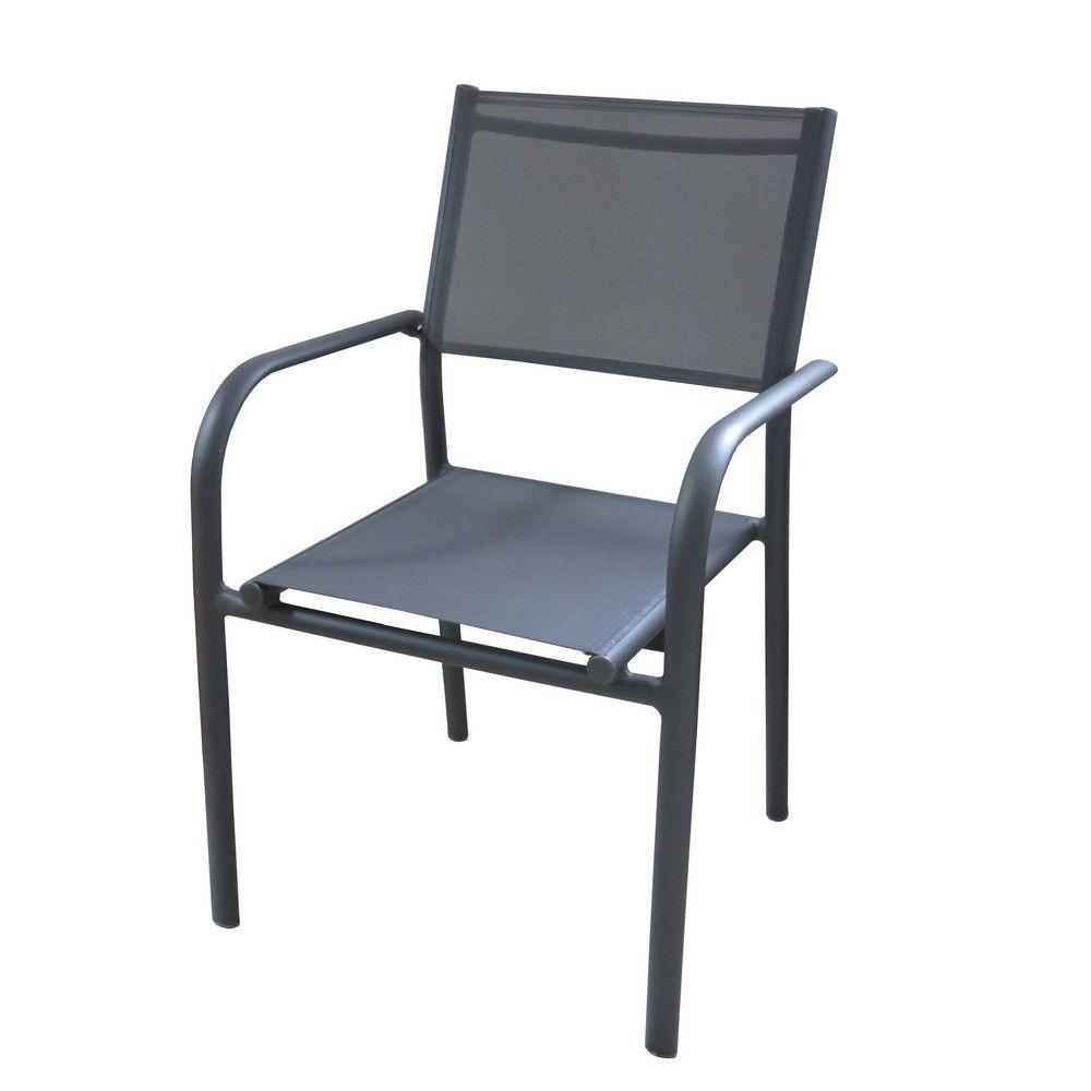 Fauteuil Duca aluminium/textilène gris