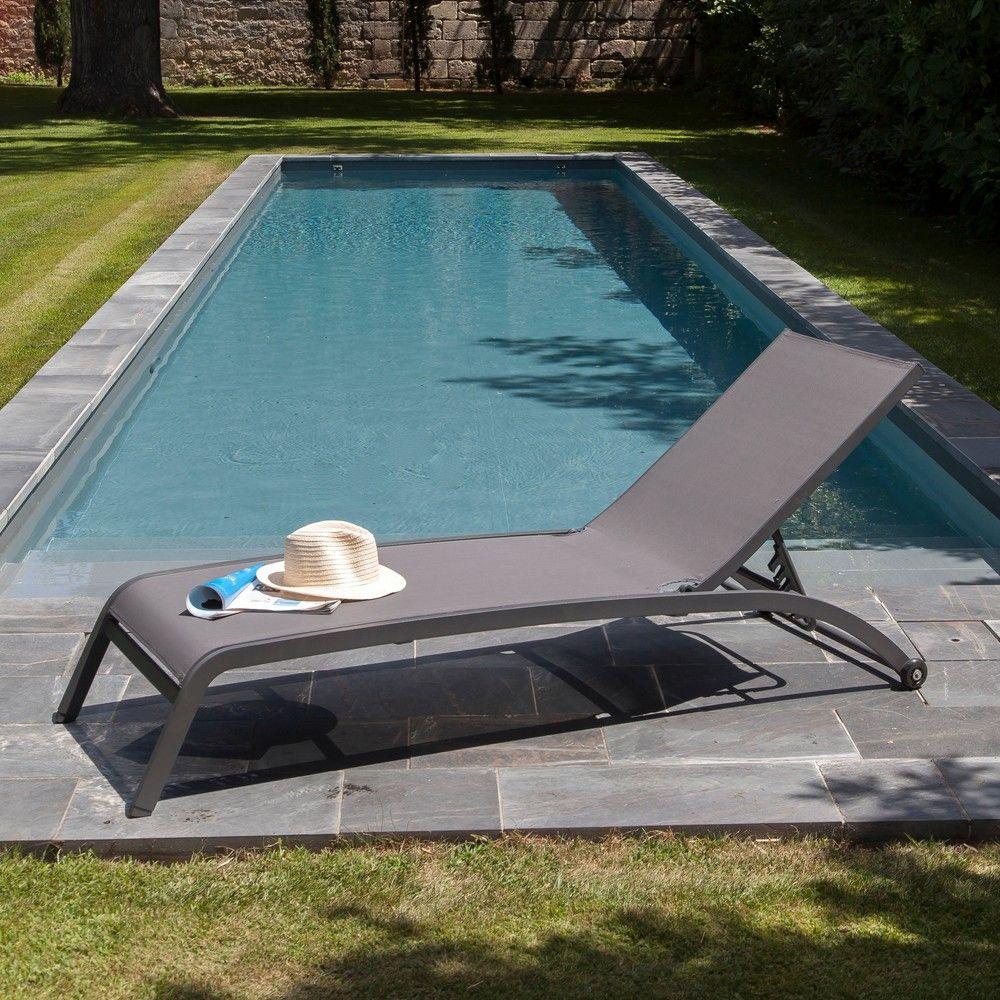 bain de soleil aluminium textil ne flower gris gamm vert. Black Bedroom Furniture Sets. Home Design Ideas