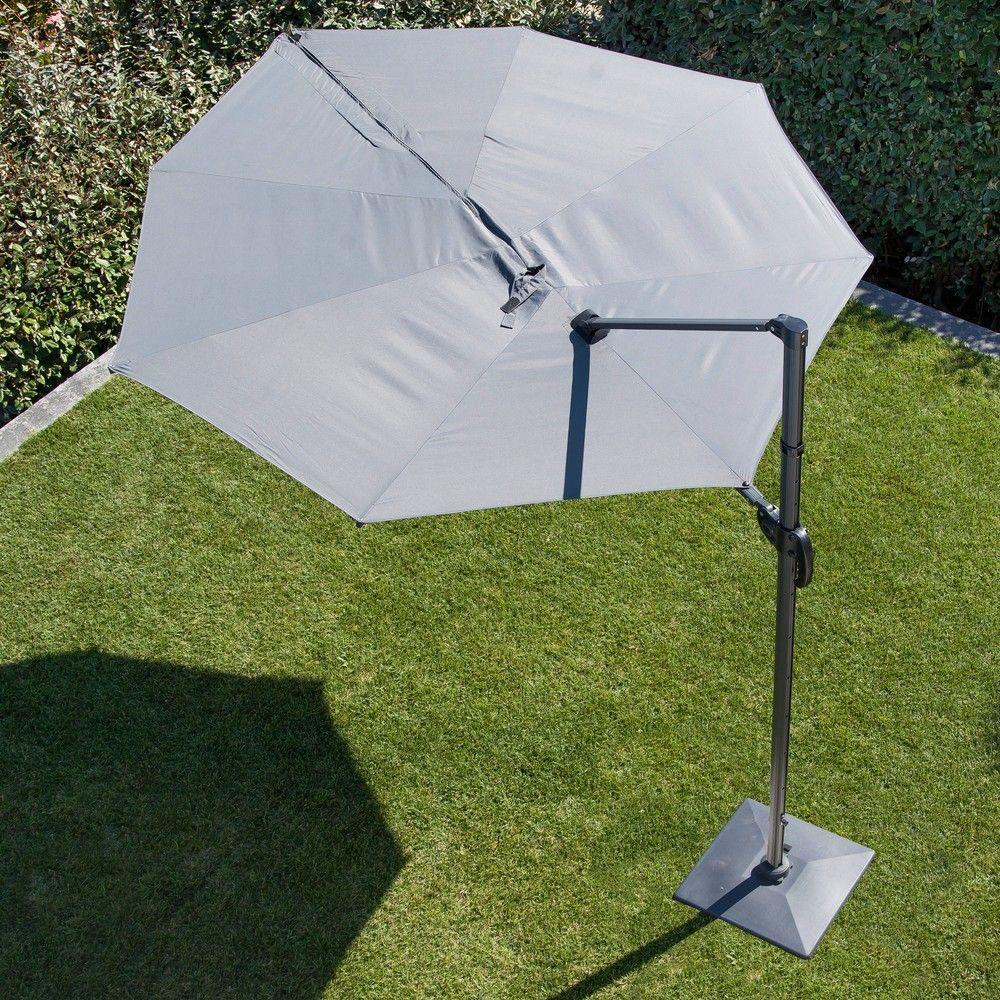 Parasol Déporté Luxe 27x27 M Aluminium Gris