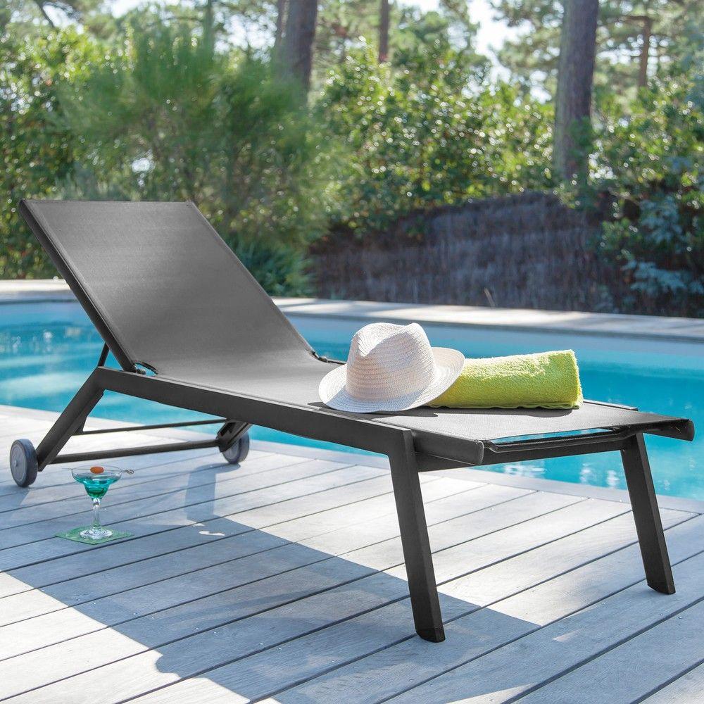 Audacieux Bain de soleil Florence aluminium/textilène gris - Gamm Vert MX-29