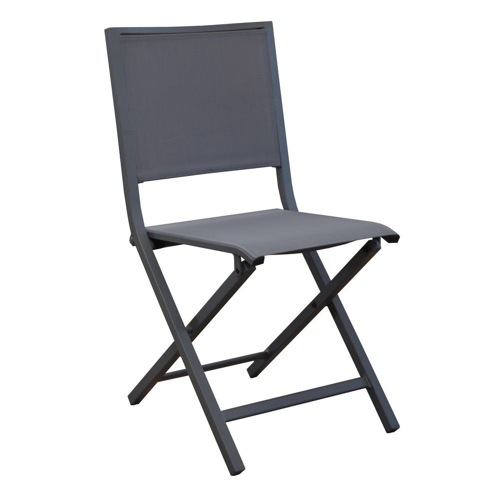 chaise pliante florence aluminium textil ne gris gamm vert. Black Bedroom Furniture Sets. Home Design Ideas