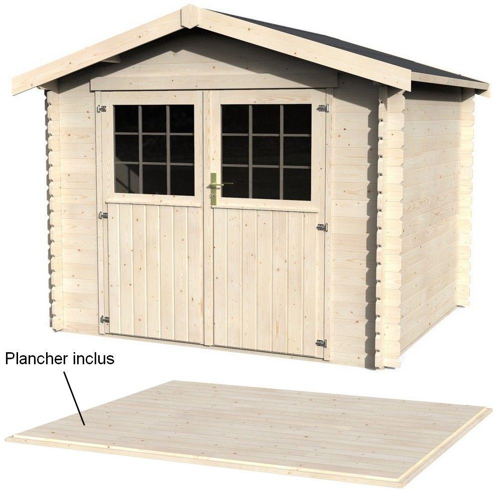 Cabane Jardin En Palette abri de jardin en bois 7,21 m² ep.28 mm maura + plancher