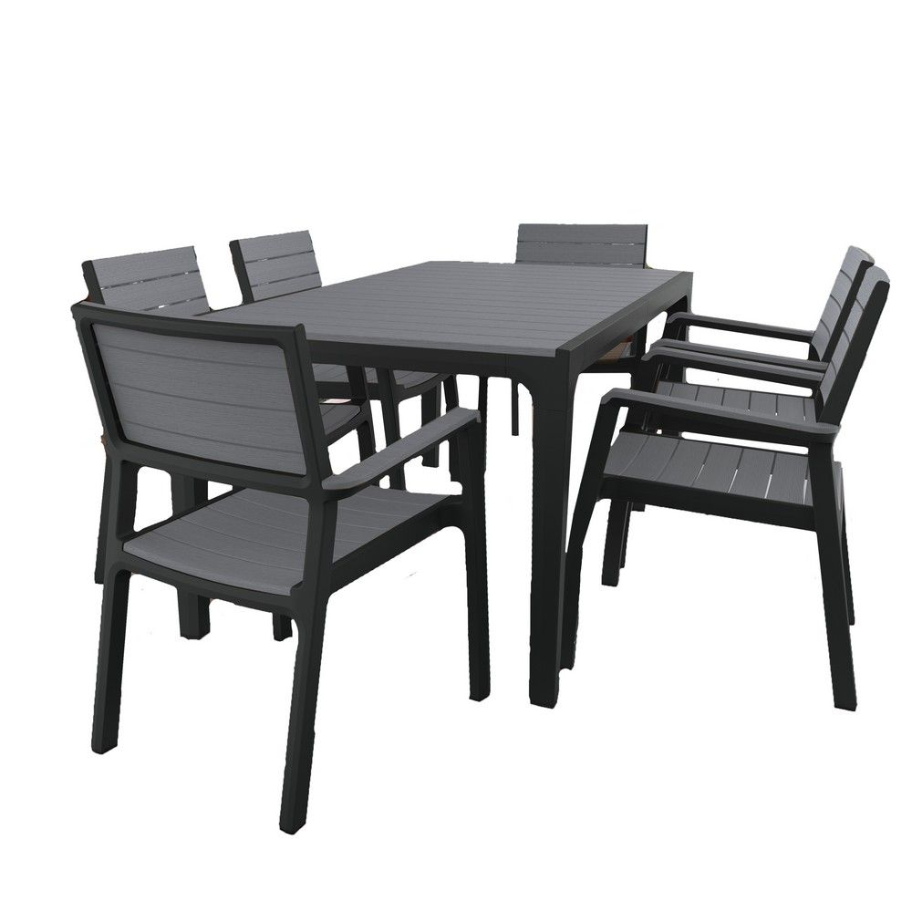 salon de jardin r sine harmony table 6 fauteuils a. Black Bedroom Furniture Sets. Home Design Ideas