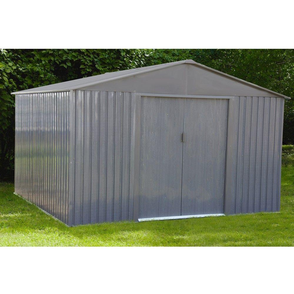 Abri de jardin métal aspect bois 9,66 m² Ep. 0,30 mm