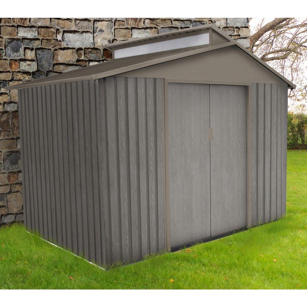 Abri de jardin métal aspect bois 5,44 m² Ep. 0,30 mm