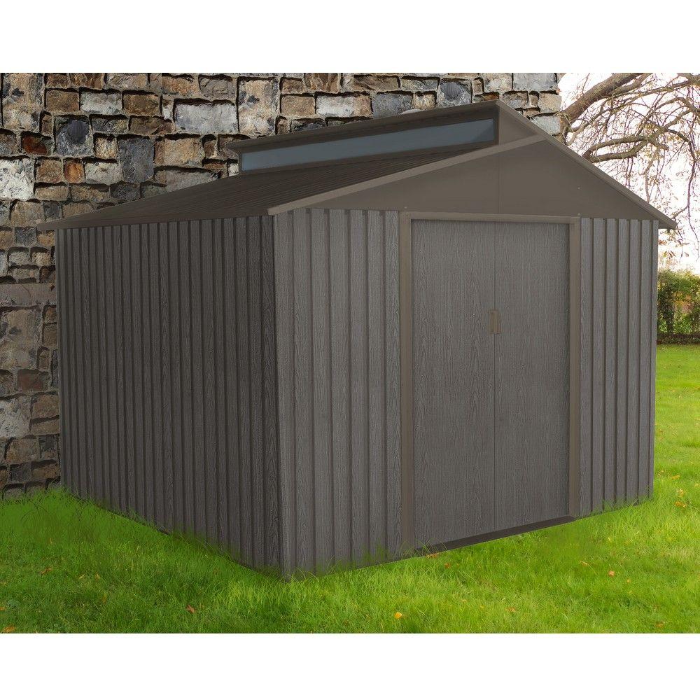 Abri de jardin métal aspect bois 7,25 m² Ep. 0,30 mm