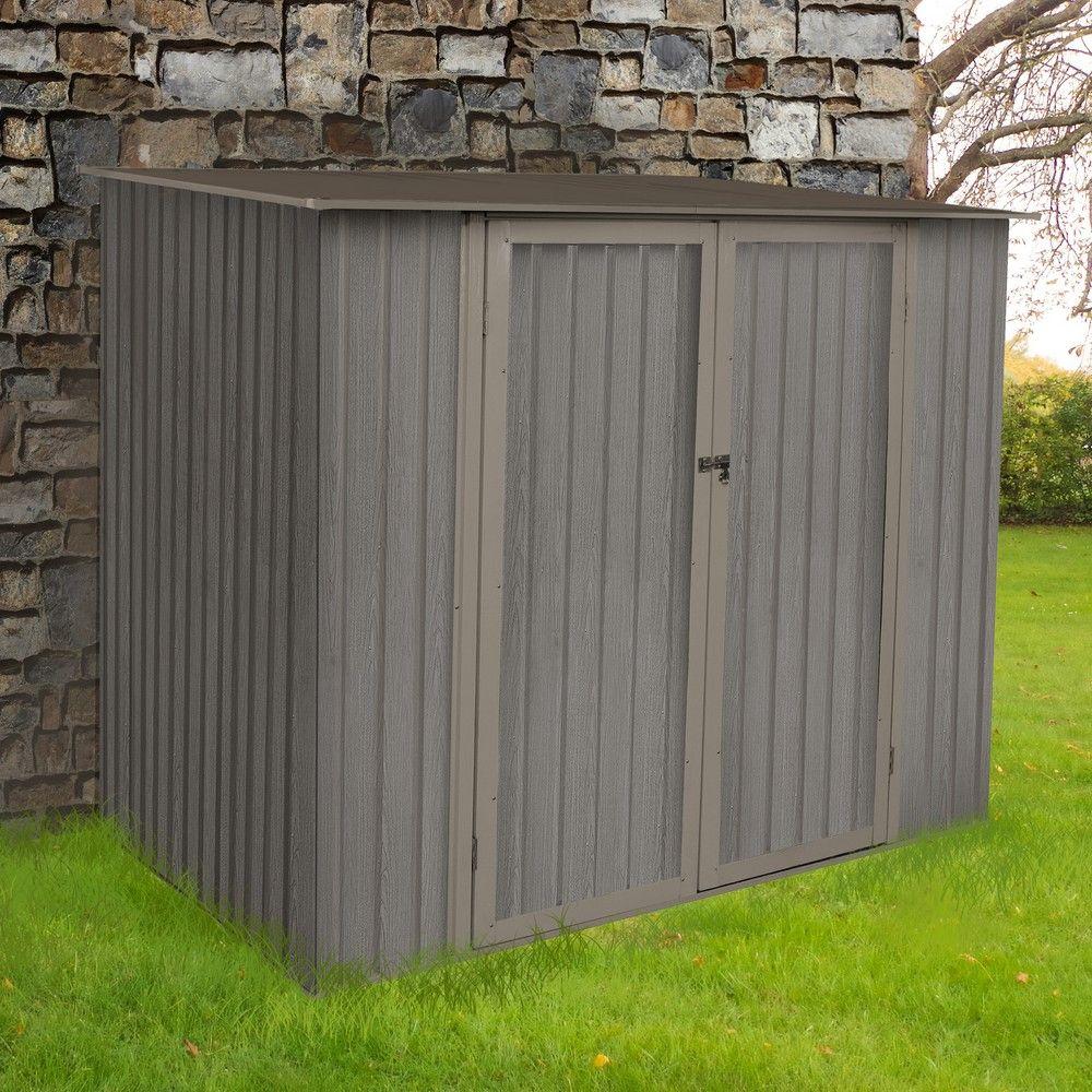 petit abri de jardin m tal aspect bois 3 31 m ep 0 30 mm. Black Bedroom Furniture Sets. Home Design Ideas