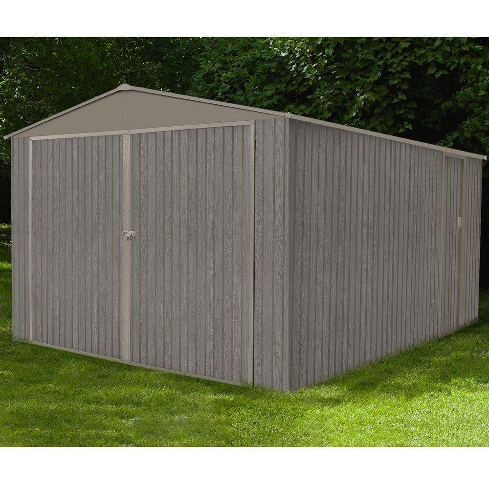 Garage métal aspect bois 18,24 m² Ep. 25 mm