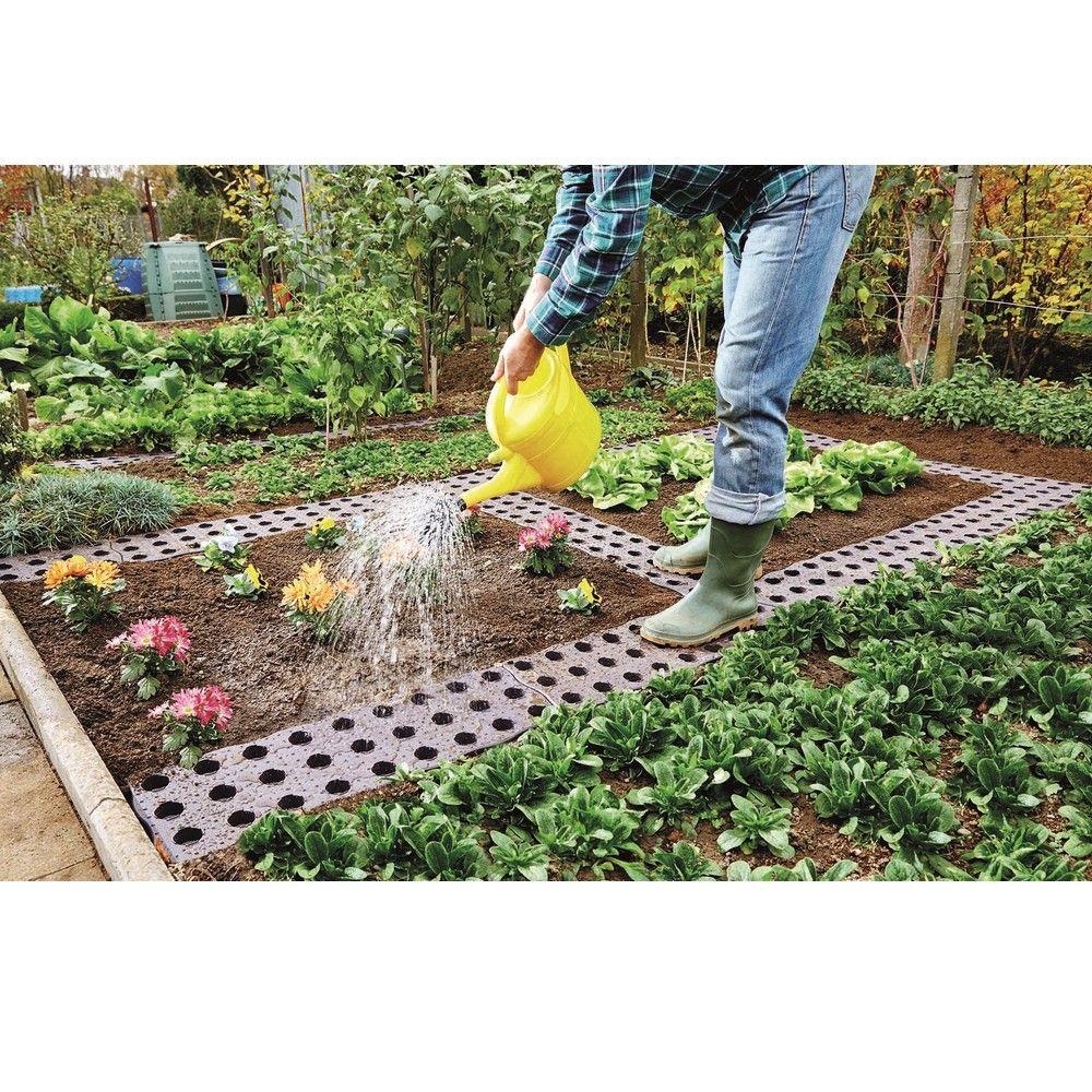 Dalle Beton Parking Herbe set de 16 dalles de potager 0,70 m²
