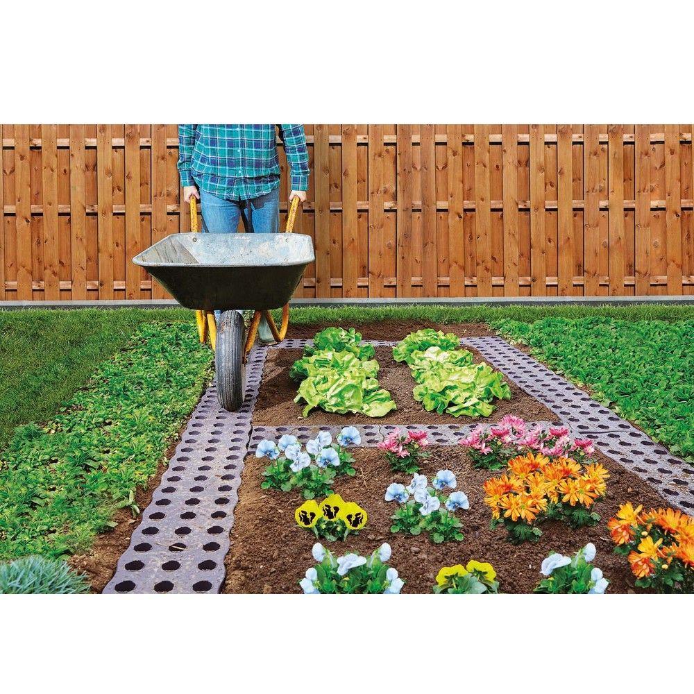 Dalles De Bois Pour Jardin set de 16 dalles de potager 0,70 m²