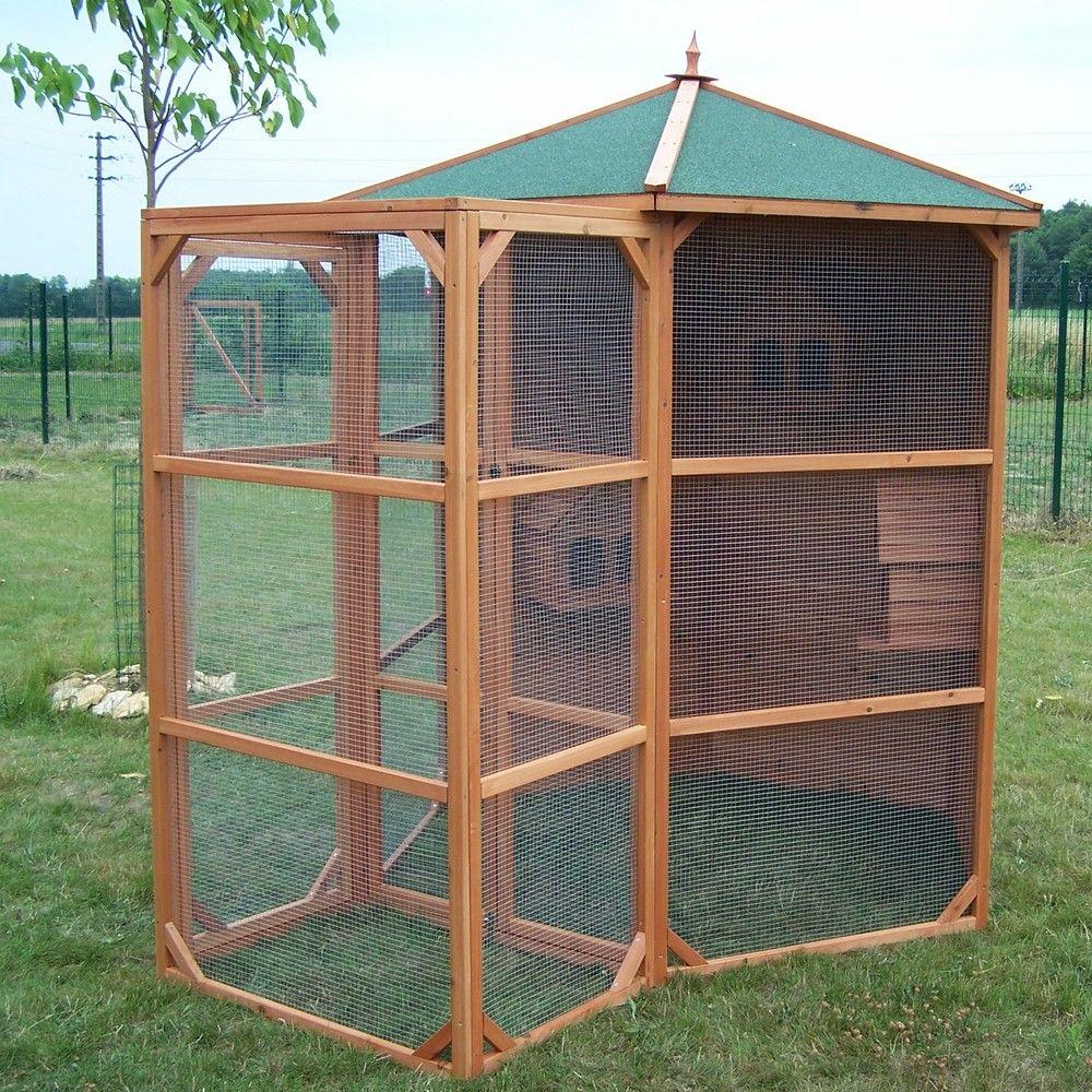 Serre de jardin - Grande volière 6 à 10 oiseaux 4,5 m² - Serre de jardin GammVert