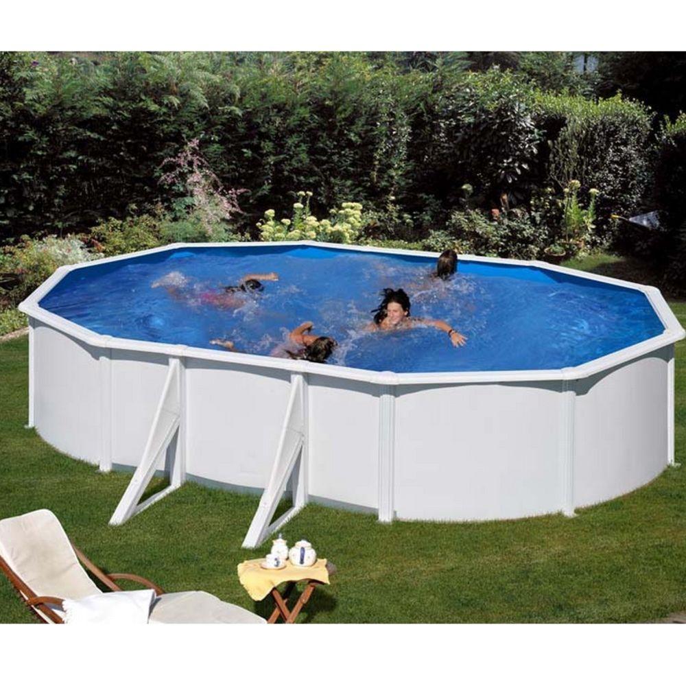 piscine ovale en acier fidji l x l m gr. Black Bedroom Furniture Sets. Home Design Ideas