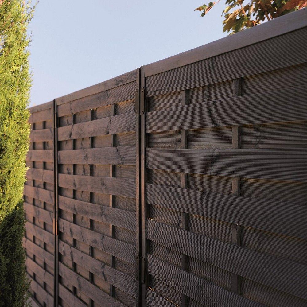 Ecrire Sur Panneau Bois lot de 2 panneaux occultants bois traité autoclave l180 h180 cm