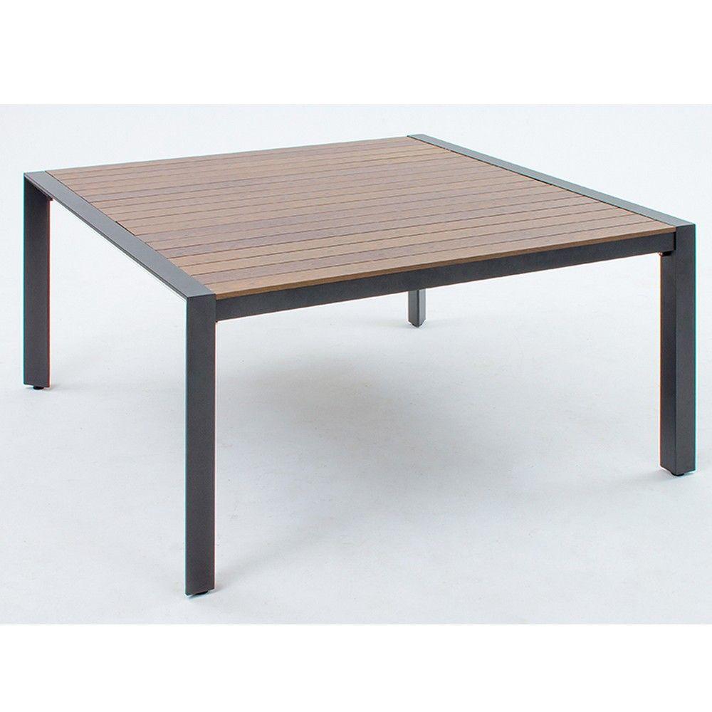 Table de jardin Malaga L150 l150 aluminium