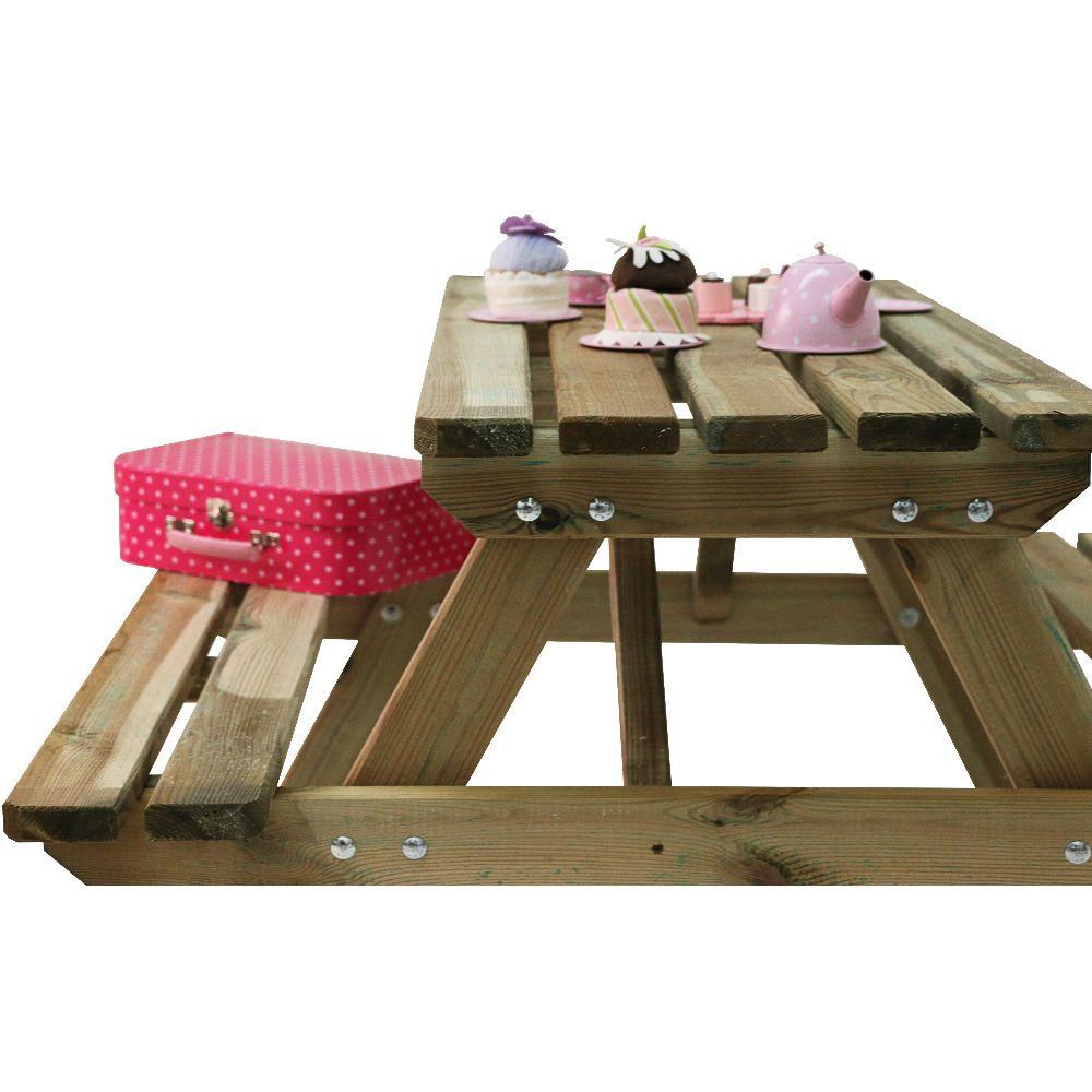 Table de pique-nique enfant bois traité autoclave Wapiti L90 l90 cm