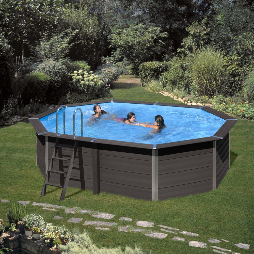 Piscine Hors Sol Portugal piscine composite ovale avant-garde l 664 x l 386 cm - gré