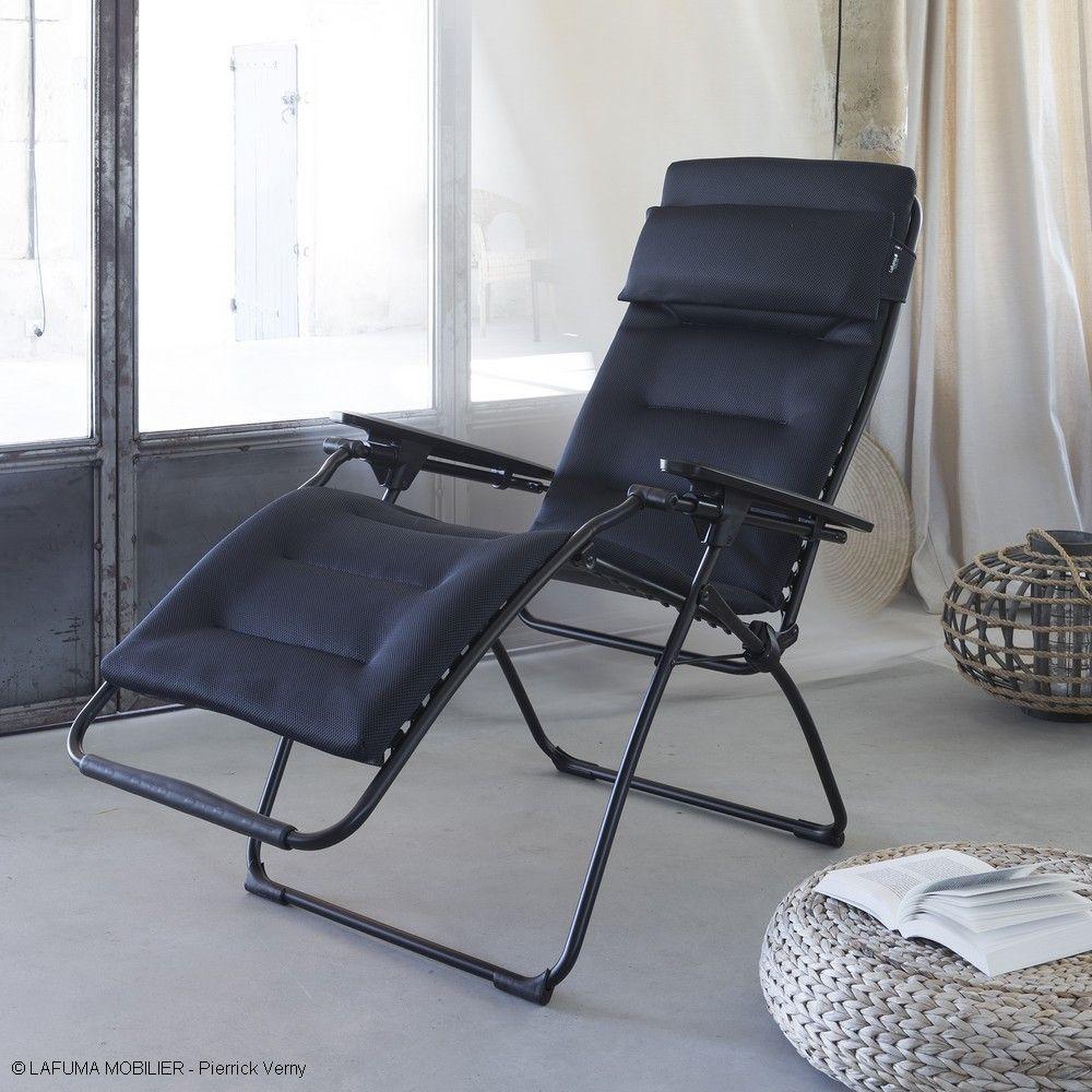 fauteuil relax lafuma futura air comfort acier h 17 x l 73. Black Bedroom Furniture Sets. Home Design Ideas