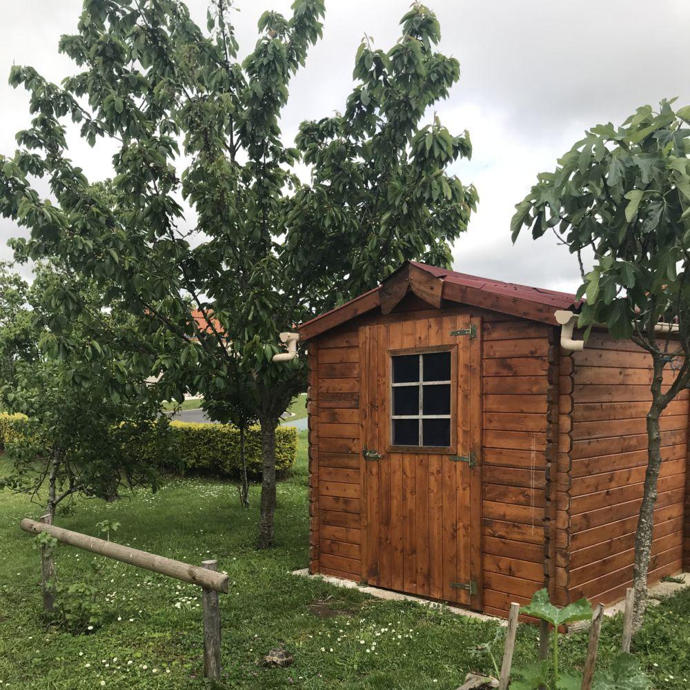 Abri de jardin bois Habrita 4,28 m² Ep. 28 mm