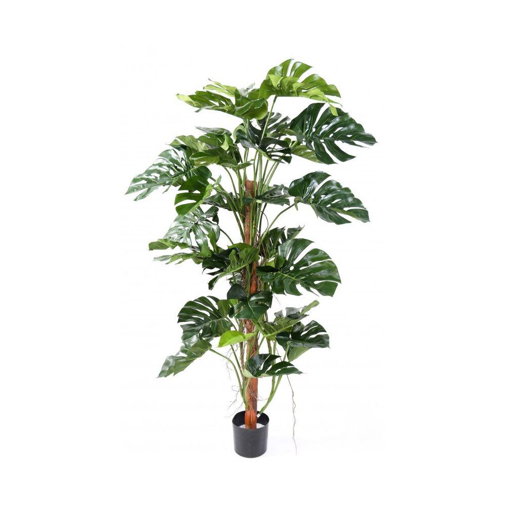 Philodendron artificiel sur tuteur coco