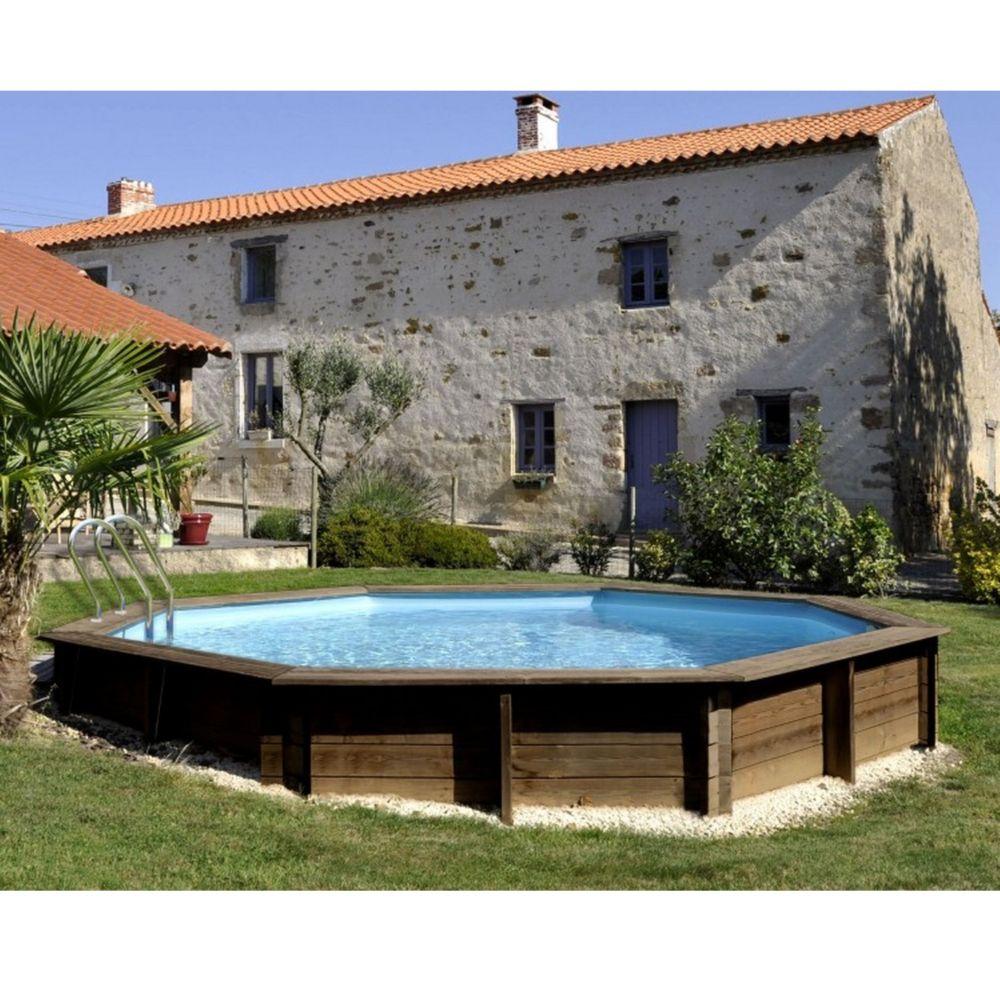 Piscine En Bois Alsace piscine en bois traité alcira d 4.45 m - sunbay