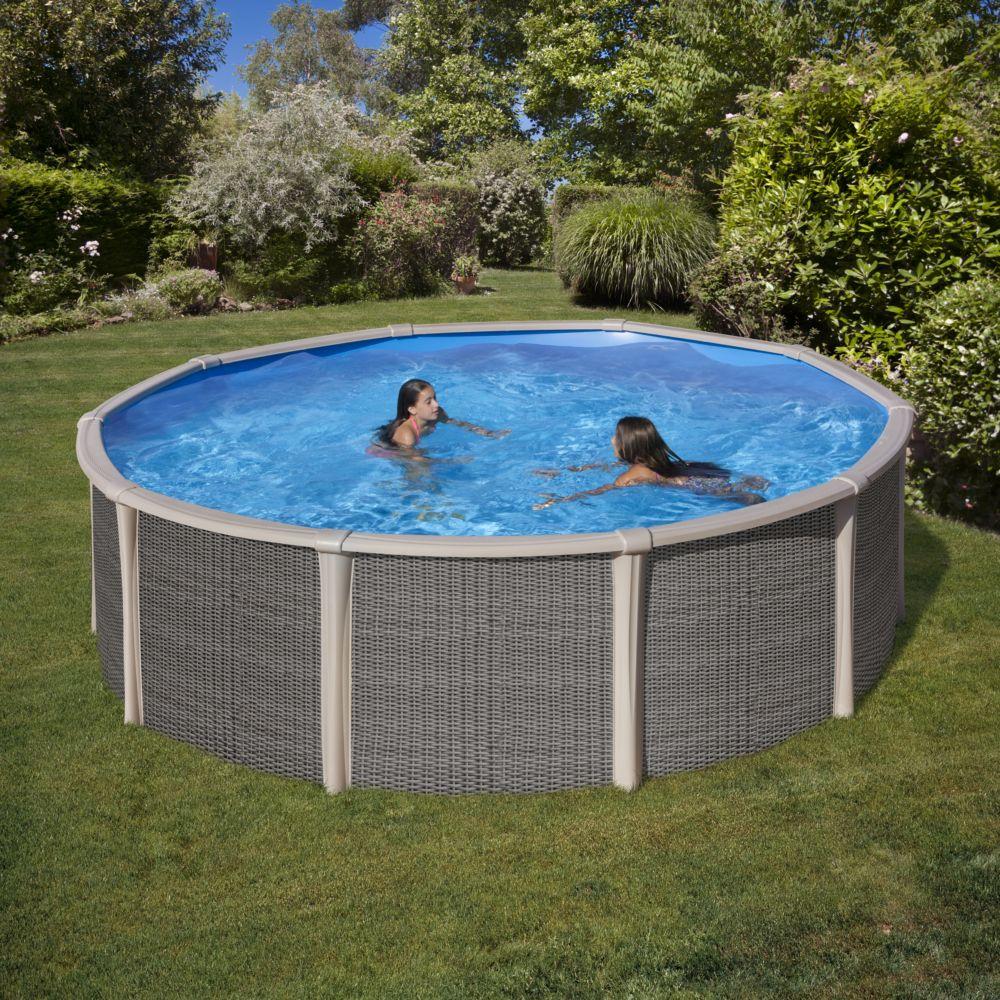 Piscine acier ronde D 4.80 m Fusion Pool - Gré