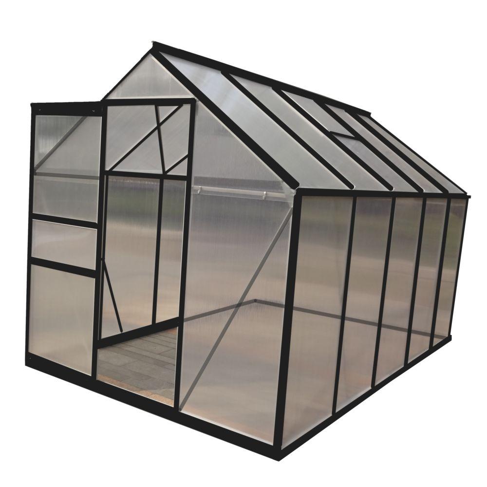 Serre polycarbonate anthracite 5.90 m² - Châlet-Jardin