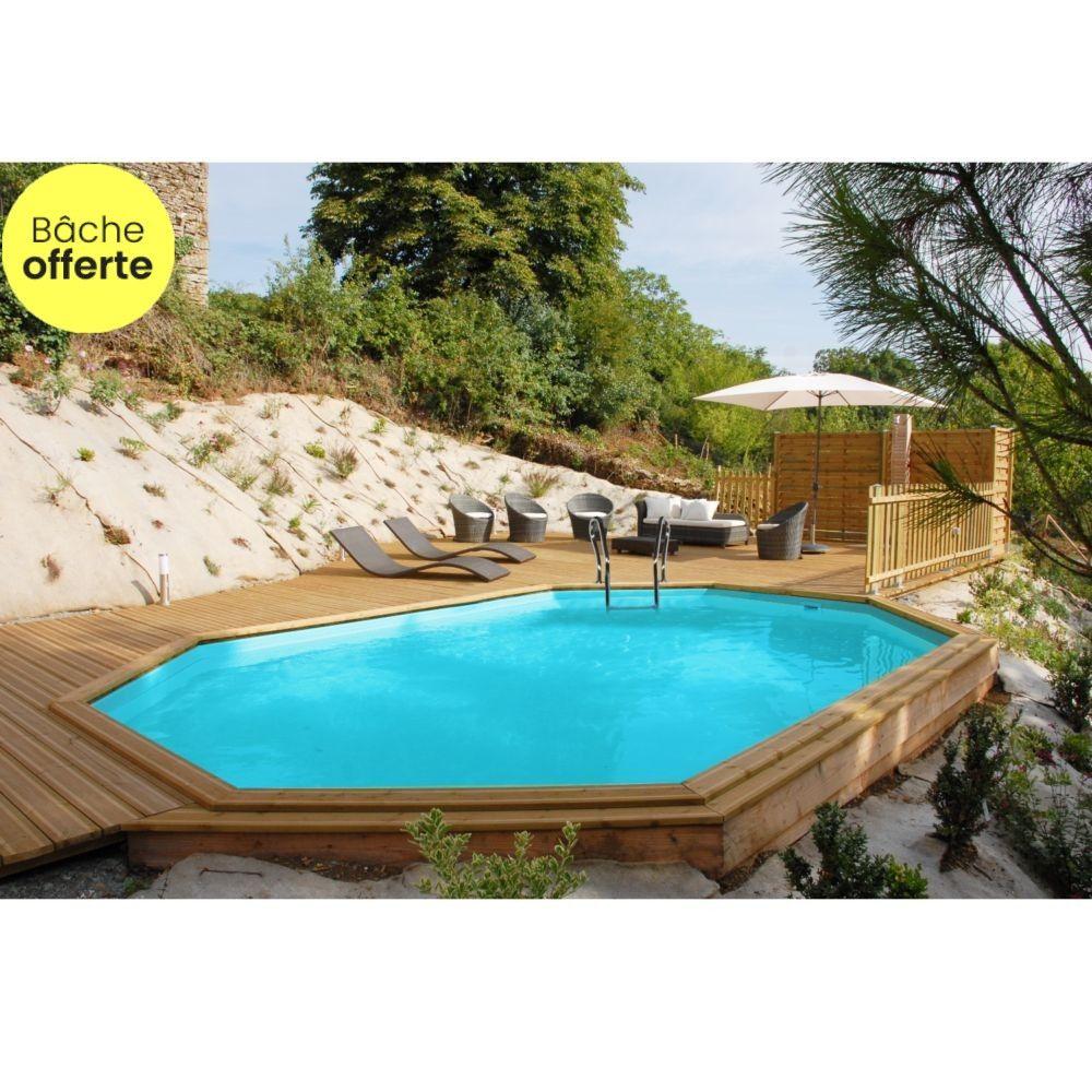 Piscine En Bois Alsace piscine en bois traité camona l 6.20 x l 3.95 m - sunbay