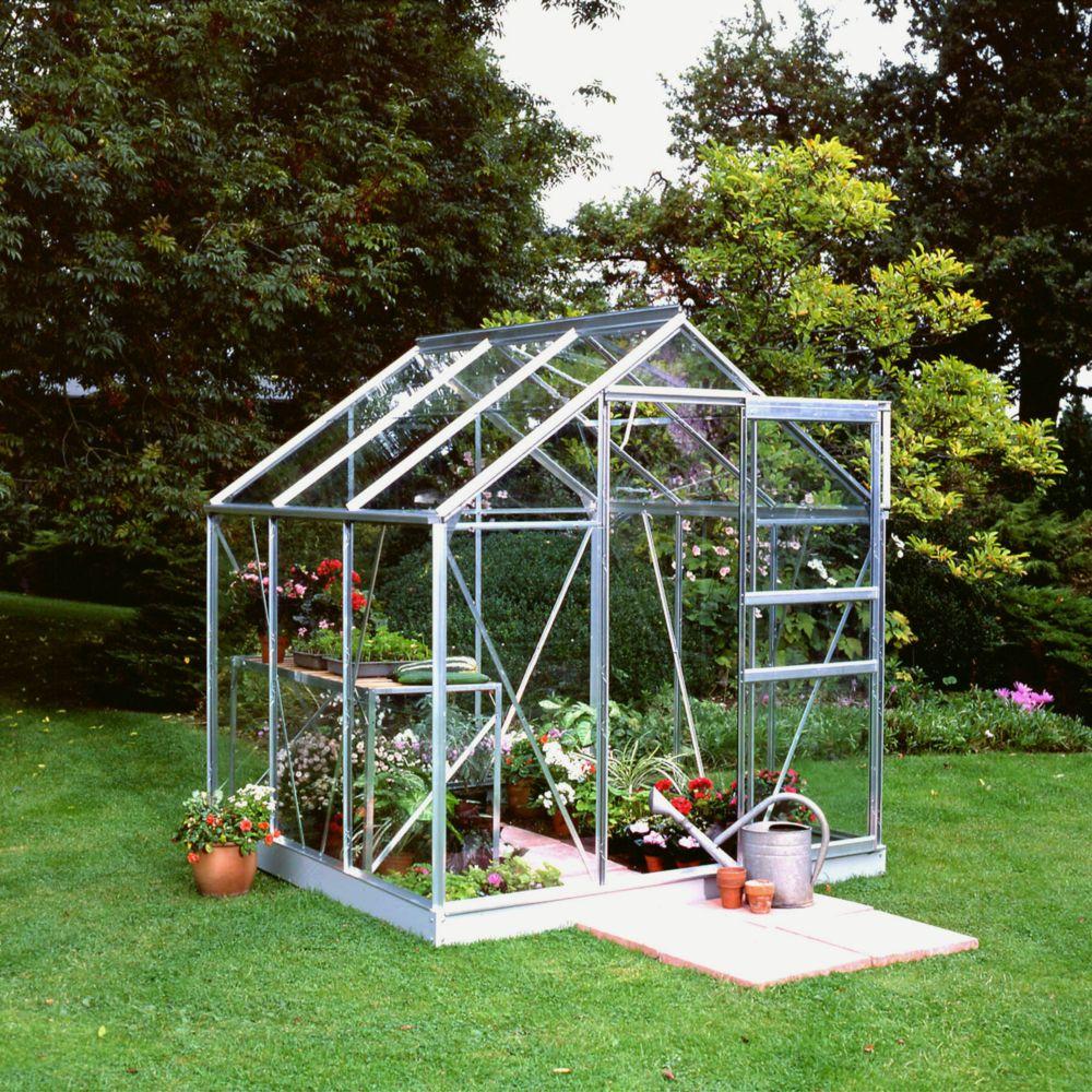 Serre en verre horticole Popular aluminium 3.80 m² + embase - Halls