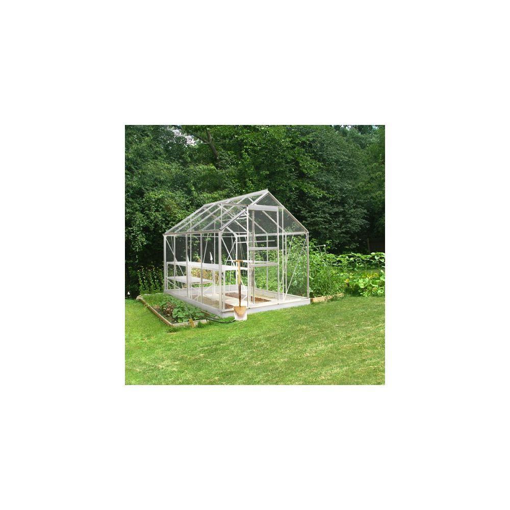 Serre en verre horticole Popular aluminium 5 m² + embase - Halls