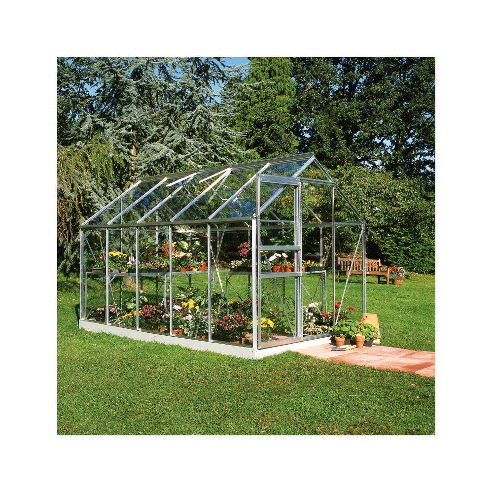Serre en verre horticole Popular aluminium 6.20 m² + embase - Halls