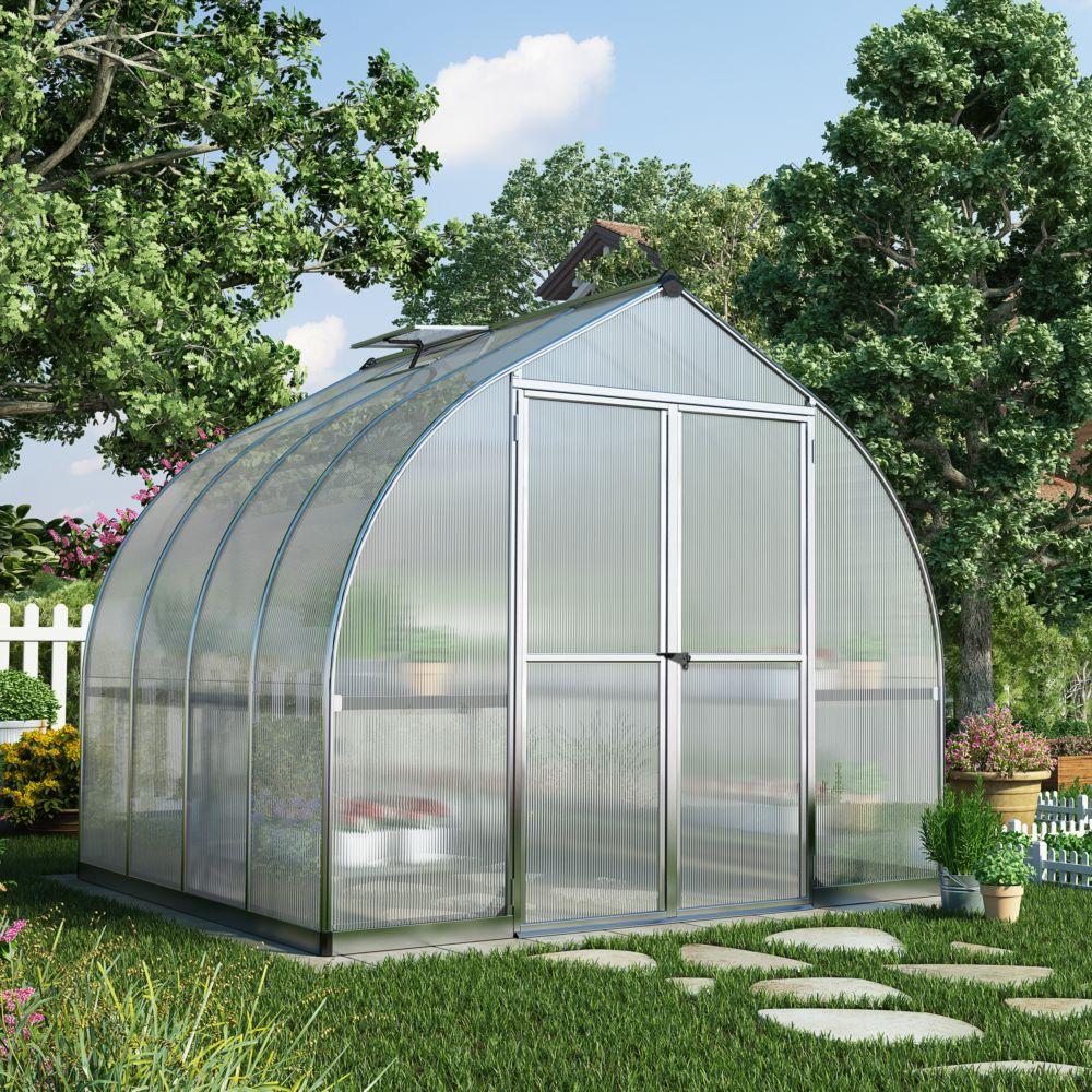 Serre polycarbonate Bella aluminum 6 m² - Palram