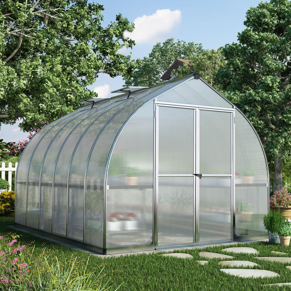 Serre polycarbonate Bella aluminium 8.9 m² - Palram