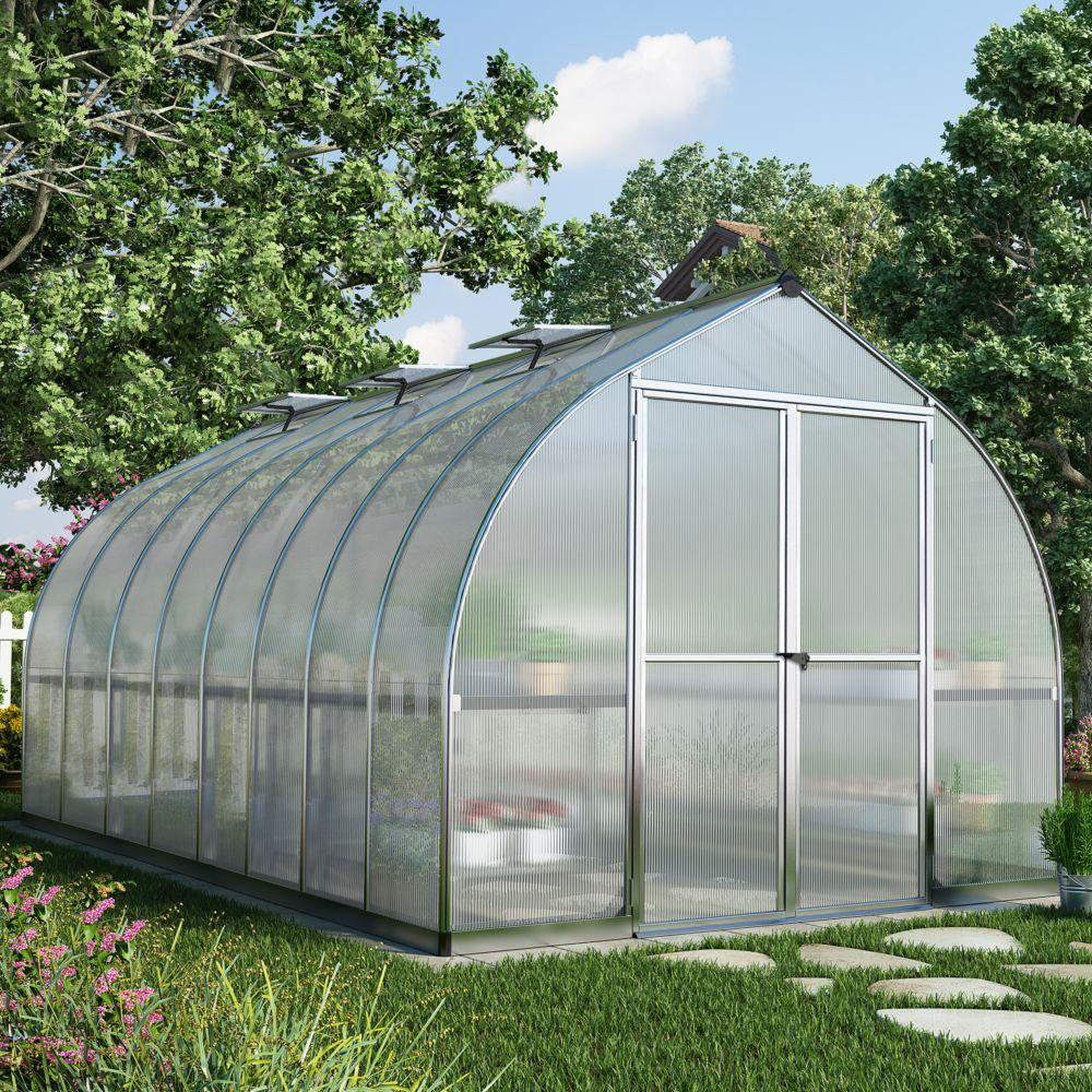 Serre polycarbonate Bella aluminum 11.8 m² - Palram