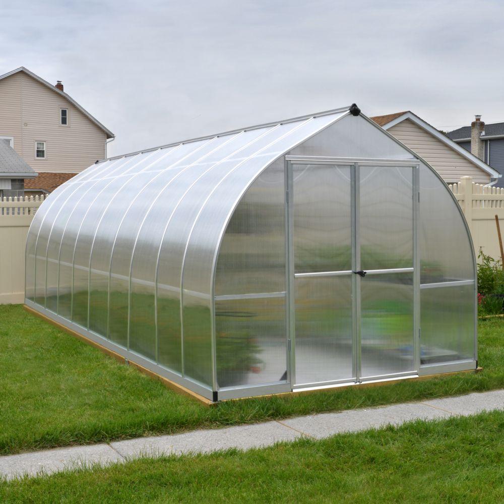 Serre polycarbonate Bella aluminum 14.7 m² - Palram