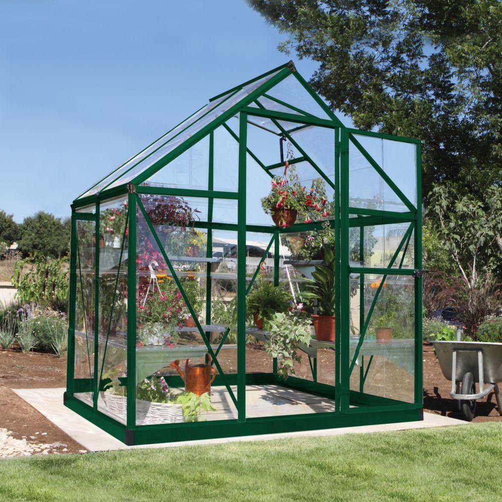 Serre polycarbonate Harmony vert 2.3 m² - Palram