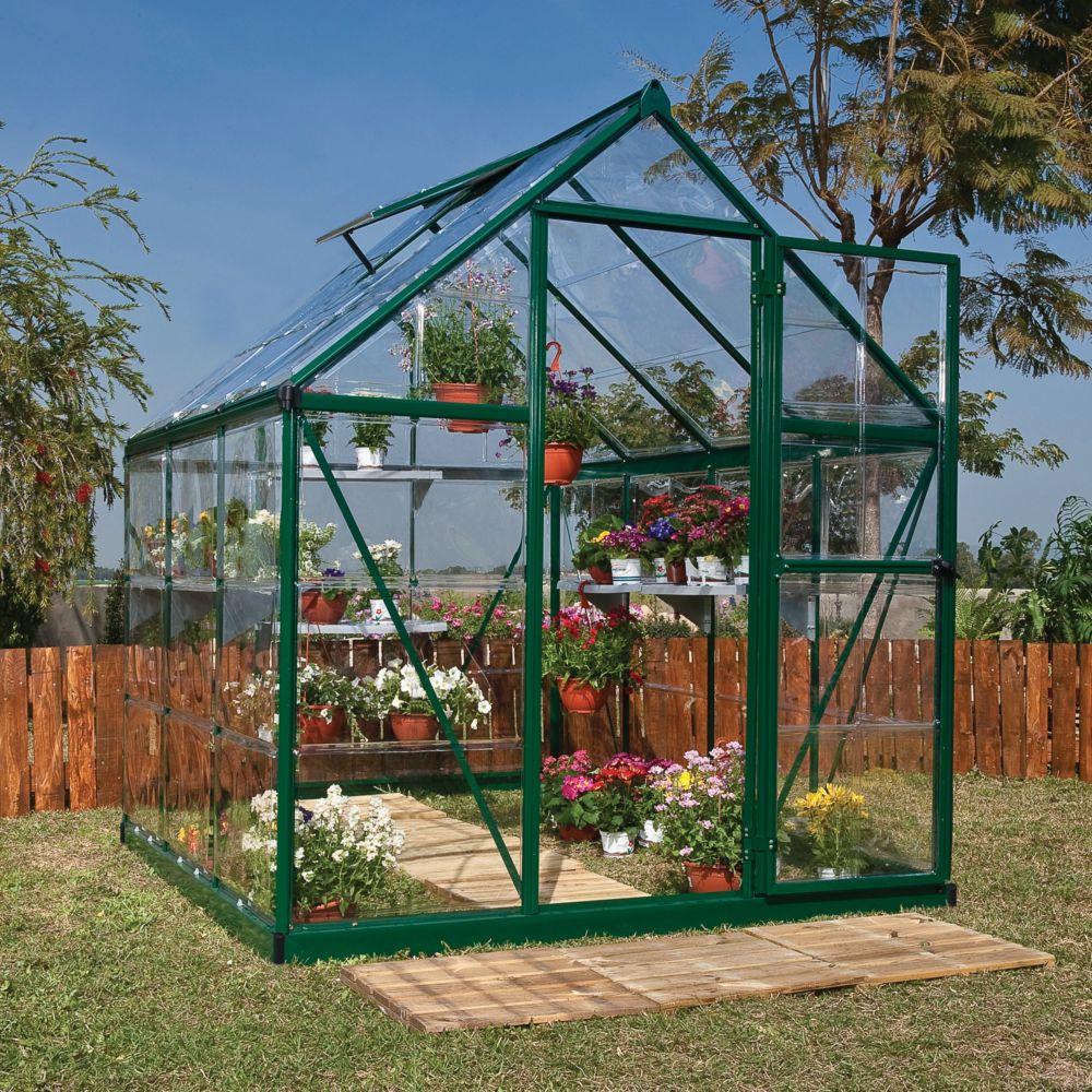 Serre polycarbonate Harmony vert 3.4 m² - Palram