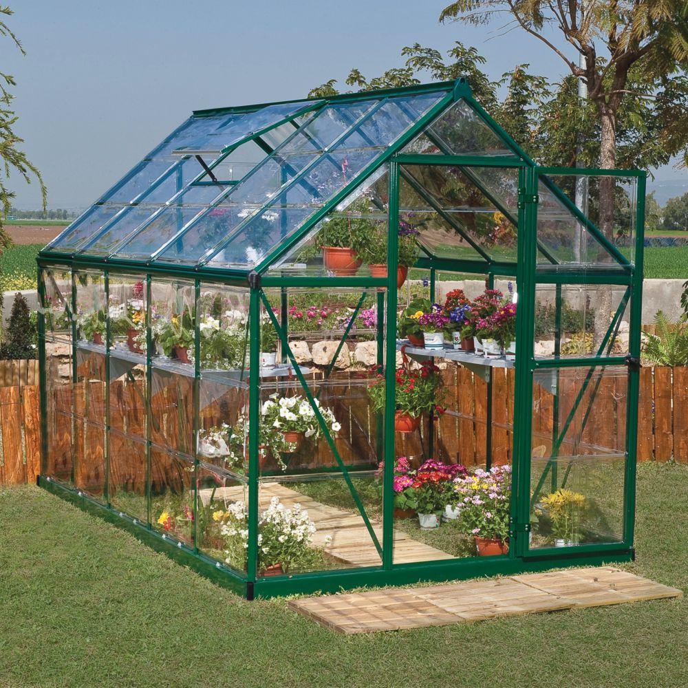 Serre polycarbonate Harmony vert 5.7 m² - Palram
