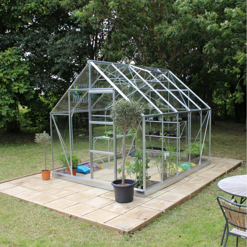 Serre en verre horticole Universal aluminium 8.20 m² + embase - Halls