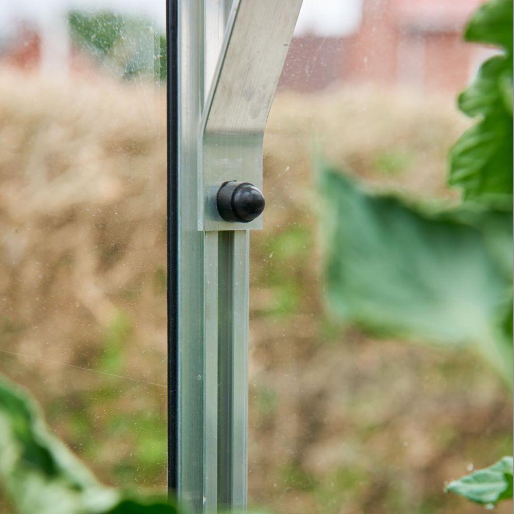 Souffleur De Verre Ile De Ré serre adossée en verre horticole altan aluminium 1.30 m² + embase - halls