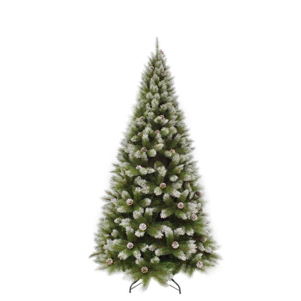Sapin de Noël artificiel Pomme de pin vert PITTSBURGH - H215XD117CM