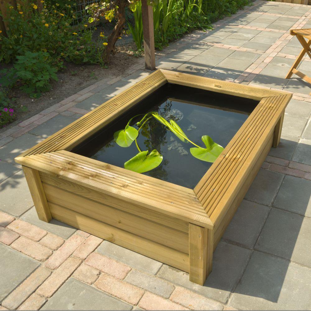 Contour De Balcon En Bambou kit bassin quadra wood i 225l