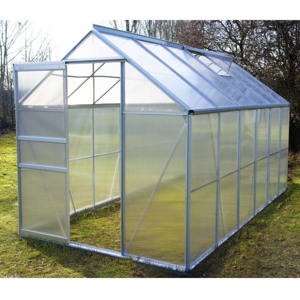 Serre polycarbonate Diamant grise 7.20 m² - Châlet-Jardin