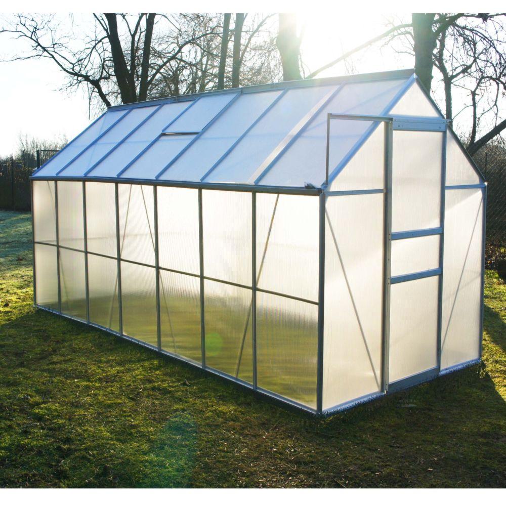 Serre polycarbonate Diamant grise 8.20 m² - Châlet-Jardin